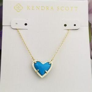 Kendra Scott, Ari, Turquoise, Heart, Necklace